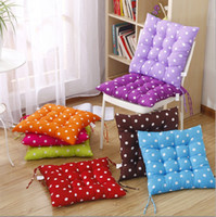 Coussin de siège Wave Dot Pattern Chair Tatami Mat Home Canapé Bureau Soft Pillow Reliure Strap Design Multi Color 4pj F R