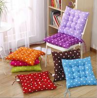 Wholesale Crochet Design Mats - Seat Cushion Wave Dot Pattern Chair Tatami Mat Home Sofa Office Soft Pillow Binding Strap Design Multi Color 4pj F R
