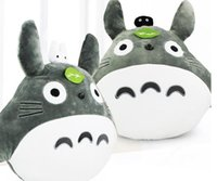 Wholesale totoro pillows - Hot sale My Neighbor Totoro Pillow Stuffed Plush Animals Toys Soft Doll For Children cm High Quality ems