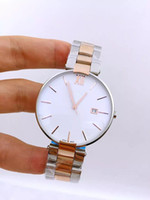 Wholesale Luxury Watch Couples - 2016 new men's women's stainless steel watch high-quality luxury brand watches rose gold waterproof couple watches student table