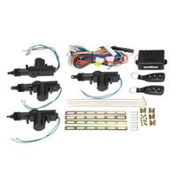 kit de télécommande 12v achat en gros de-Verrouillage de la porte de voiture universelle Système d'entrée sans clé Kit de verrouillage de contrôle central à distance avec bouton de déverrouillage du coffre
