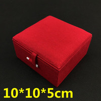 Wholesale Jewelry Wooden Package Wholesale - Plain High Quality Wooden Bangle Bracelet Gift Box Jewelry Display Case Decorative Cotton Filled Packaging Linen Craft Storage Box