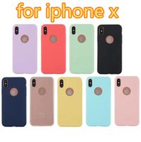 Wholesale Jelly Case For Iphone - Ultra Thin Slim Silicone Case Candy Solid Colors Soft TPU Gel Jelly phone Cases Back Cover for iPhone X 8 7 6 6S 5S SE Plus