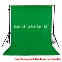 Wholesale Green Fabric Background - 1.8*2.7m 5.9*8.8ft Photo Background Photography Backdrops Backgrounds Studio Video Nonwoven Fabric Green Screen Black White
