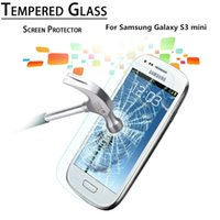Wholesale S3 Screen Protectors - Explosion Proof Anti Shatter Premium Tempered Glass Round Border 2.5D Screen Protector Film for Samsung Galaxy S3 mini i8190