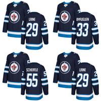 Wholesale New Jersey Jets - 29 Patrik Laine Jersey 55 Mark Scheifele 33 Dustin Byfuglien 2017-2018 Season Winnipeg Jets Hockey Jerseys Stitched New Jersey