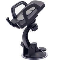 suporte de carro flexível iphone venda por atacado-360 girando o suporte flexível do suporte do telemóvel da montagem do carro Cradle para o iphone para Samsung para LG Smartphone