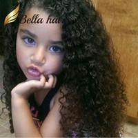 dalga saç stili toptan satış-Prenses Çocuklar Özelleştirilmiş Tam El Bağladılar Dantel Peruk Düz Saç Açı Çocuk Bella Saç için Ayarlanabilir Kıvırcık Dalga Saç ...