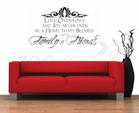 Wholesale Friend Quotes - family & friends home decoration creative quote wall decal vinyl wall sticker inspirational quote Art decal decor