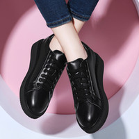 Wholesale Lacing Air Force Ones - 2016 New Guciheaven Fashion Women 1 Force Genuine Leather Shoes For Air Sport Trainers One Casual Sneakers All White Outdoors Shoes 35-39