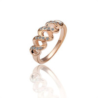 spiral diamond rings - New fashion high quality personality Women classic ring Rose Gold spiral shape of diamond
