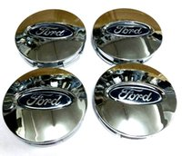 Wholesale Ford Center Caps - 4pcs lot 66mm 3 Colors Car Wheel Hub Case Center Cover Caps Emblem Logo Badge Fit For Ford EDGE Explorer