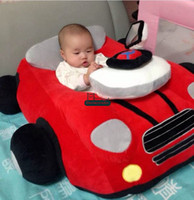 Wholesale free car stuff resale online - Dorimytrader Hot Item cm x cm x cm Large Lovely Plush Soft Stuffed Red Baby Car Toy Nice Kids Gift DY60052