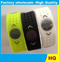 Wholesale Energy Bracelet Hologram - Wholesae PB Sport Silicone Bracelet Hollow Out Hologram Bracelets Bands Bracelet Energy Ion Wristband With Box