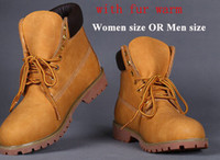 Wholesale Waterproof Wedge Winter Boots Women - Spring,Autumn,Winter Ankle Martin Boots Fashionable Outdoor Shoes For Women,Men Snow Boots Warm Waterproof Durable Footwear EUR Size 36~46