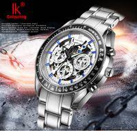 Wholesale New Gent - classic business gents Mechanical wrist Watches top luxury silver stainless steel date week mens watch Skeleton men new designer wristwatch