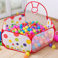 Wholesale new pool - Wholesale-New Arrival 90cm 120cm 150cm Funny Basketball Childrens Kids Baby Toy Tent Ball Pit Playhouse Pop Up Garden Pool