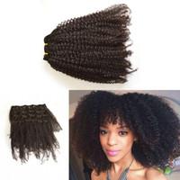 4a cheveux vierges achat en gros de-4a / 4b / 4c 3a / 3b / 3c péruvien vierge Afro crépu cheveux bouclés Afro Afro Américain pince pas cher dans les extensions de cheveux