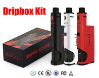 100% Kit Kanger Dripbox authentique avec Box KangerTech Subdrip Réservoir Dripmod Mod Large Bore Drip Tip Noir Blanc Rouge Couleur VS subox topbox
