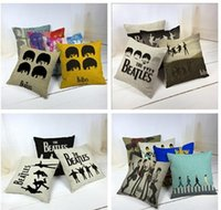 45 * 45 centimetri quadrati Decorative Beatles fumetto ammortizzatore pillow cuscino Singer sveglio stampato cuscino