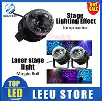 lâmpada LED Stage Mini Rotating RGB Lâmpada colorida do partido da bola Magic Light Disco de Iluminação Disco DJ Party KTV Moving Head Light Stage Luz Laser