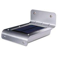 lamba işlevi toptan satış-16 led süper parlak güneş enerjili kablosuz açık ses ve motion sensörü otomatik açma / kapama fonksiyonu ile su geçirmez metal düz bahçe lambası