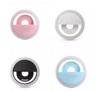 cabo selfie venda por atacado-2017 LED Anel Selfie Luz Suplementar Iluminação Noite Escuridão Selfie Aprimorando para Fotografia para i7 samsung note7 com cabo de carregamento