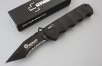 сложенные металлические ножи оптовых-Бо кер острый хулиган складной нож охотничьи ножи кемпинговые ножи 440c 57hrc полностью металлическая ручка с задним зажимом