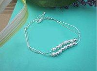 Wholesale Korean Women Beaded Bracelets - Free shipping! Small daisy flower bracelet 925 silver plated bracelet women fresh and sweet Korean style silver jewelry
