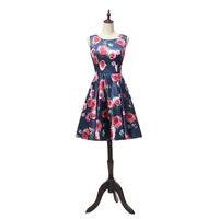 Wholesale little girls evening dresses - Knee Length Prom Dresses 2018 Scoop neck Vestidos de Noiva with Flower Evening Party Dress For Girls