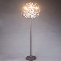 E14 No LED Floor Lamp Crystal Standing Lamps For Living Room Crystal  Bedroom Lamp European American
