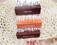 Wholesale Sugar Pencils - 2016 NEW 3Colors Kylie Jenner Matte Liquid Lipstick Kit Dirty peach Love bite Brown sugar Lipliner pencil Makeup Lipstick Free shipping