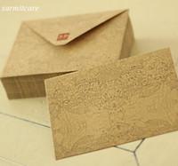 Wholesale Envelope Vintage Paper - 045 3 - 200pcs lot Quality Brown Paper Greeting Cards Paper Bag Exquisite Brown Paper Envelopes Vintage Style Kraft Envelope