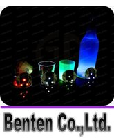 Wholesale Christmas Stockings Wholesale Prices - Christmas LED Flashing Bottle Coaster Sticker For Drinks Glasses For Night Club And Bars Beer Party Decoration Factory Price LLFA93