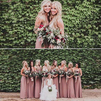 Wholesale summer party dresses online - Chiffon Hot Bridesmaid Dresses Custom Made Sleeveless Cheap Bridesmaids Party Gowns Importi Good Quality Long Bridesmaid Dress