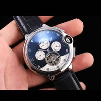 Wholesale Mens Watches Big Bang - High Quality Luxury Top Brand Men Watch Tourbillon Mechanical Automatic Watches Leather strap Wristwatches Big Bang Gift for mens
