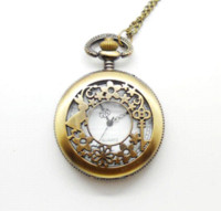 Wholesale Relogio Bolso Vintage - New Arrive Antique Pocket Watch Vintage Alloy Steampunk Bronze Necklace Pendant Chain relogio de bolso fashion gift