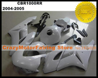 Wholesale Motorcycle Race Fairing Kits - New Injection Mold High quality ABS Motorcycle Fairing Kit 100% Fitment For HONDA CBR1000RR 2004 2005 CBR1000 04 05 Body set white Racing