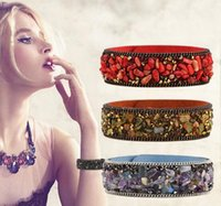 Wholesale Exquisite Stone - New Hot Selling Natural Crystal stone bracelet South Korea Velvet Show Bracelet Women Charming Exquisite Bracelet Jewelry Gift