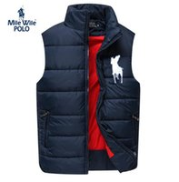 Wholesale Polo Xxl - Brand new Design Men Polo cotton wool collar hooded down vests sleeveless jackets plus size quilted vests Men PAUL vests outerwear S-XXL