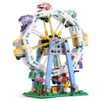 Wholesale Wheel Blocks - XingBao 01106 The Ferris Wheel Set 660pcs with Original Box for Reselling Lepin Blocks Colorful World Series XB01106 Lepin Toys