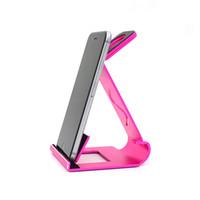алюминиевая охлаждающая подкладка оптовых-Wholesale-Aluminum Desktop Charger Phone Cradle Metal Stand for Pad Mini Tablet for Cellphone Watch Charging Dock for All Phones Desk Cool