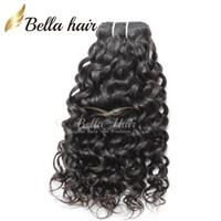 Wholesale Brazilian Hair Mixed Length 3pcs - 7A Mix Length 8~30inch Brazilian Hair Extensions Natural Color 3pcs Lot Human Hair Wavy Water Wave Hair Weaves 300g lot