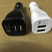 Calidad original Universal Dual 2 puertos USB 9.0V 1.67A 5.0V 2A Fast Adapter Car Charger para Samsung Galaxy s8 s8 plus S6 S7 Edge Note 4 5 7