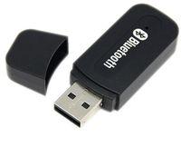 автомобильный аудиоадаптер usb оптовых-USB bluetooth стерео музыкальный приемник адаптер беспроводной автомобильный аудио 3.5 мм Bluetooth приемник Dongle для iPhone динамик mp3