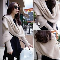 Wholesale Cheap Winter Wool Scarves - Cheap wholesale ladies scarf knitted wool scarf and explosion winter long sleeved 5 color scarf scarf