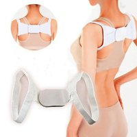 Wholesale Corrector Support Brace Belt - Adjustable Therapy Posture Body Shoulder Support Belt Brace Back Corrector Body Sculpting Strap Best Deal 1 Set=2pcs