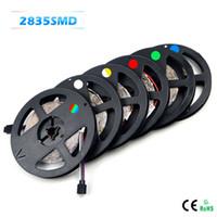 neon dize ışıkları toptan satış-Led Şerit işıklar 5 M 2835SMD 60Led / M DC 12 V Led Şerit Dize Şerit Bar Neon Bombillas Led Lamba noel işık