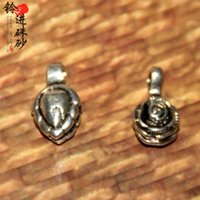 Silver / Silver Handmade ethnic sprout powder - produced silver clips into the bell rose two jewelry bean sprouts DIY powder small bead jewelry materials