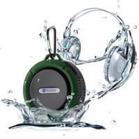 fincan hoparlör bluetooth toptan satış-Toptan Satış - Mini Kablosuz Taşınabilir Su geçirmez Bluetooth Hoparlör Duş Kablosuz Açık Araç Hoparlör TF Vantuz HandsFree MP3 Çalar ile